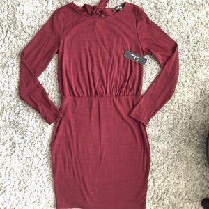 NWT Lulus Burgundy Maroon Body Dress SZ. M